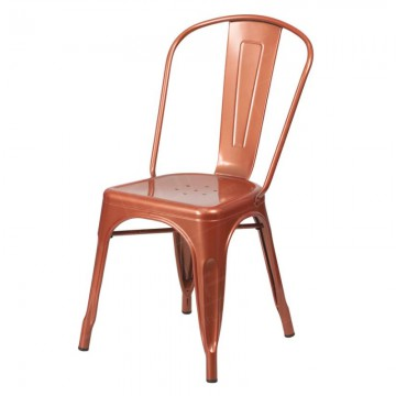Copper Tolix Style Stacking Chair Hire