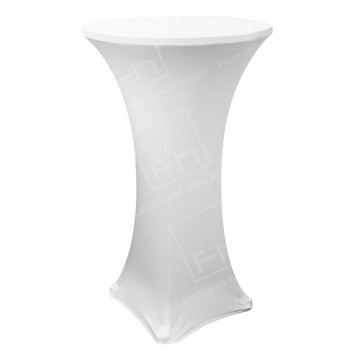 White Poseur Table Cover Hire