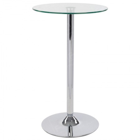 Glass Poseur Table Round