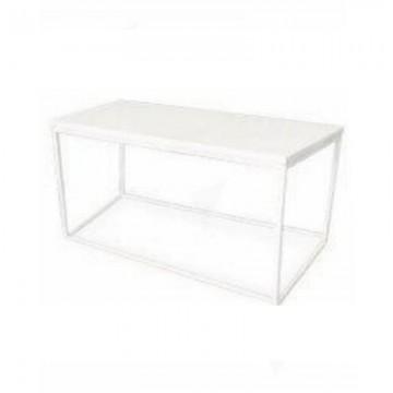 Box Frame Coffee Table White 460 X 920 X 460 H Fhuk