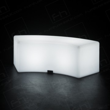 Led Curved Bench Hire
