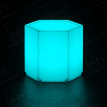 Led Hexagonal Table Hire(1)