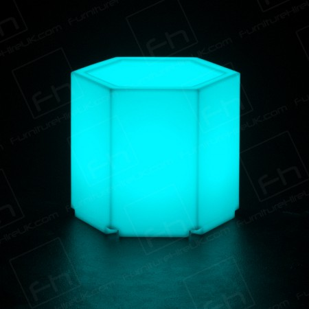 Led Hexagonal Table Hire(1)