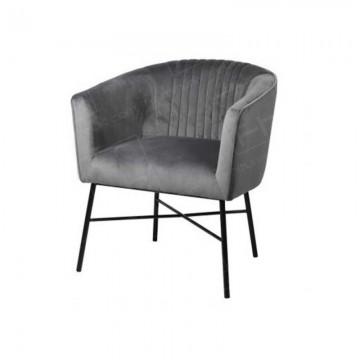 Mann Grey Velvet Accent Chair