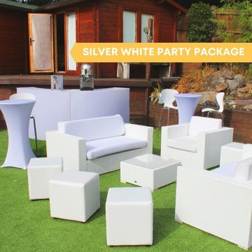 Silver White Party Package