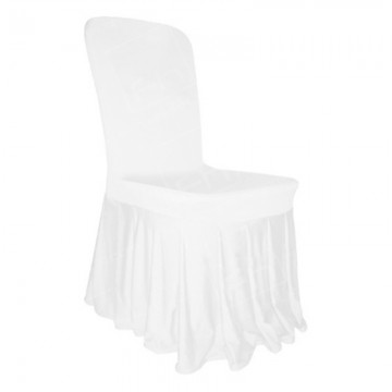 Skirted White Chair Cover