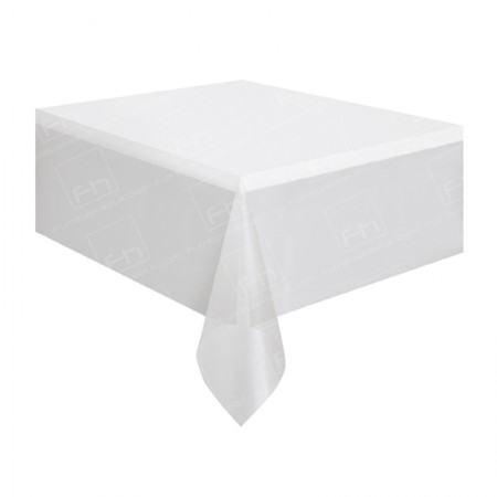 4ft Rectangular Table Cloth White