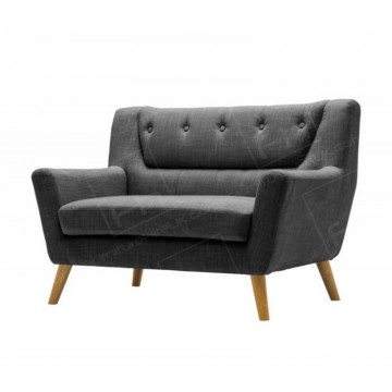 Two Seater Grey Kent Fabric Sofa