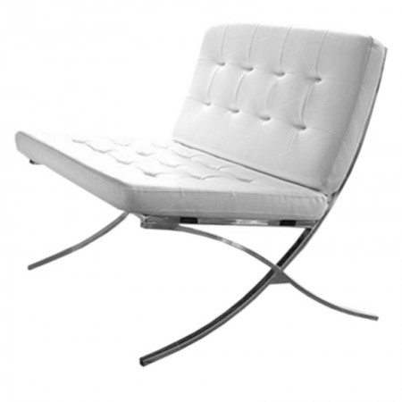 White Barcelona Chair Hire
