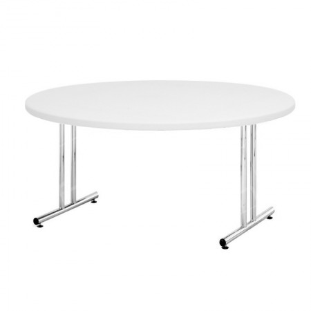 White Circular Meeting Room Table 1200mm