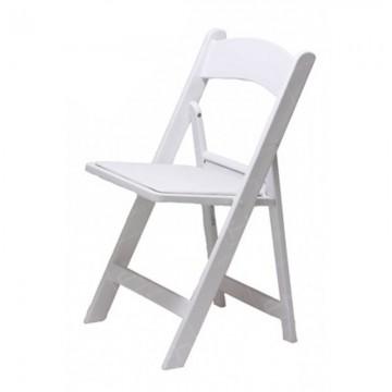 White Folding Resin Chair2