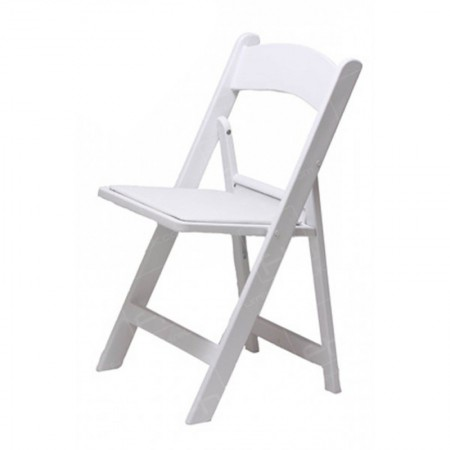 White Folding Resin Chair2