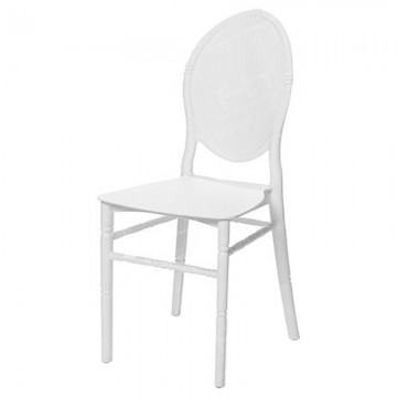 White Medaillion Chair Hire