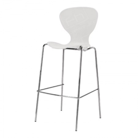 White Plastic Stacking Stool