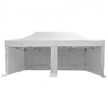 White Popup Marquee With Sides 6x3m