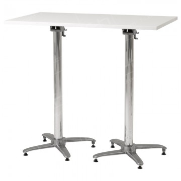 White Rectangular Poseur Table