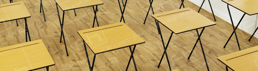 exam desks many